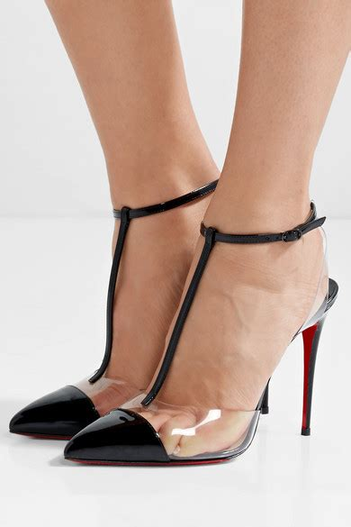 100 At The Net A Porter Sale by Christian Louboutin Nosy 100 Patent Leather And Pvc T