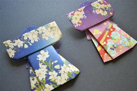 Origami Kimono - origami kimono set blue and purple umeorigami