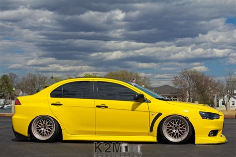 mitsubishi evo 2016 stance car stance yellow cars mitsubishi lancer evo x