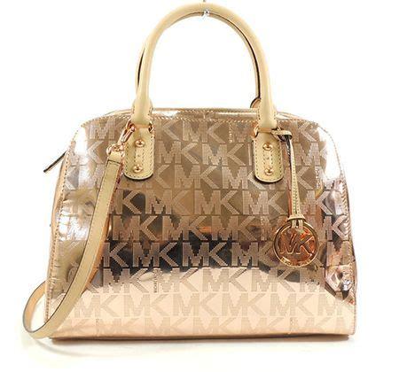 Anye Tote Bag Rosegold Anye michael michael kors mirror metallic signature satchel