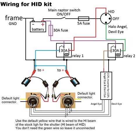 hid with relay wiring diagram hid circuit diagram maxon