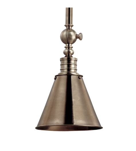 Hudson Lighting Pendant Hudson Valley 9908 Hn Darien 1 Light Pendant In Historic Nickel Foundrylighting