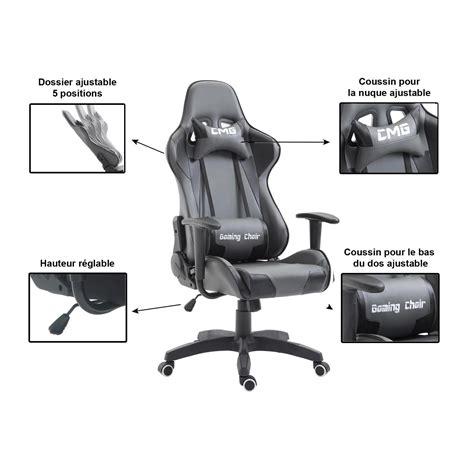 fauteuil de bureau gaming fauteuil de bureau gaming gris et noir mobil meubles