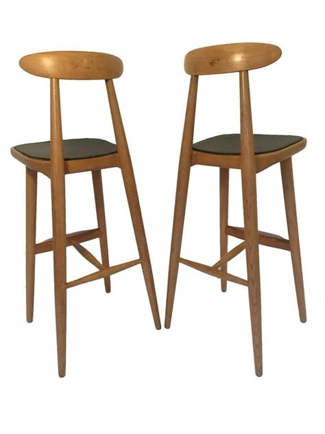 danish design bar stools oak bar stools by danish designer vilhelm wohlert at 1stdibs