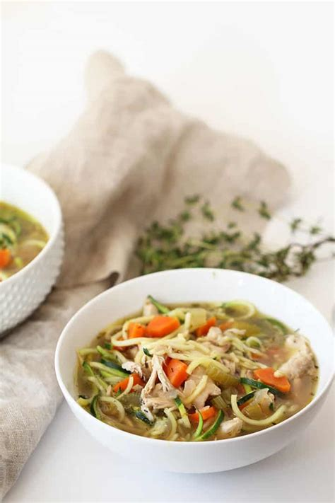 the best chicken soup ever spiralized soup recipes for your leftover thanksgiving turkey inspiralized