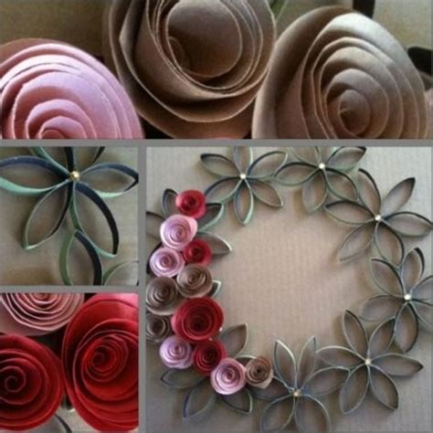 rolled paper flower wreath tutorial 27 best images about toilet paper crafts for adults on