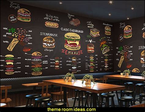 coffee shop wallpaper murals decorating theme bedrooms maries manor cafe