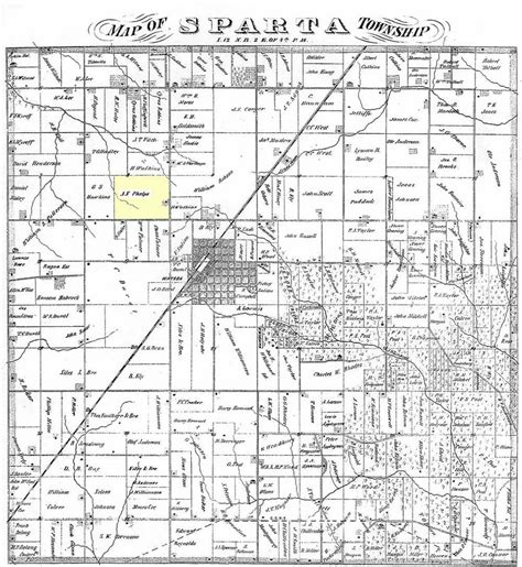 Will County Section 8 by Map Of Sparta Township Countyr Illinois Cira 1870