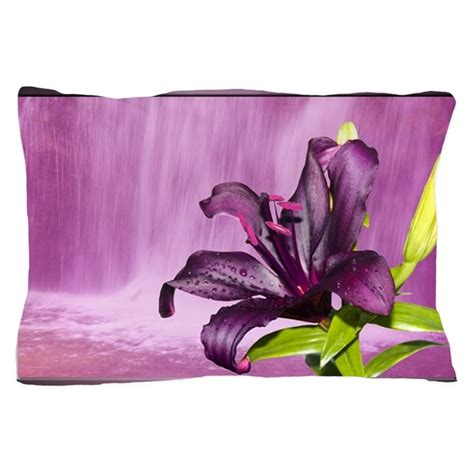 Purple Pillow Cases by With Waterfall In Purple Pillow By