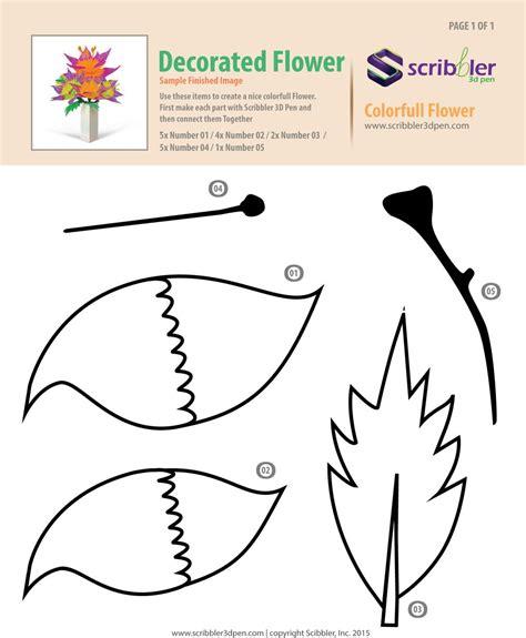 Flower For Box Jpg Presents 3d Pen Pinterest 3d Pen Stenciling And 3d 3d Pen Design Templates