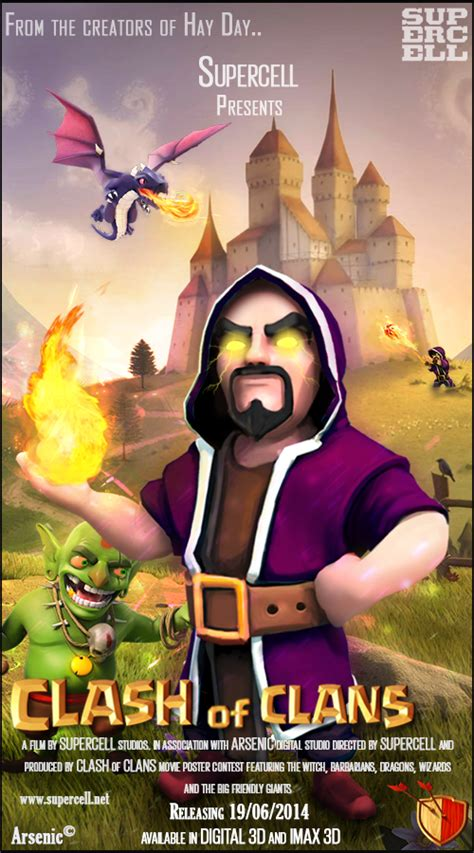 film layar lebar clash of clans clash of clans movie poster 1 by arsenic212 on deviantart
