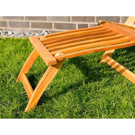 sedie sdraio da terrazzo sedia sdraio da giardino in legno con braccioli e poggiapiedi
