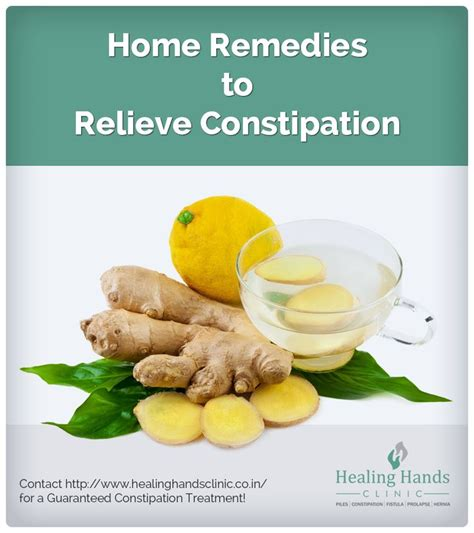 home remedies to relieve constipation consumption of