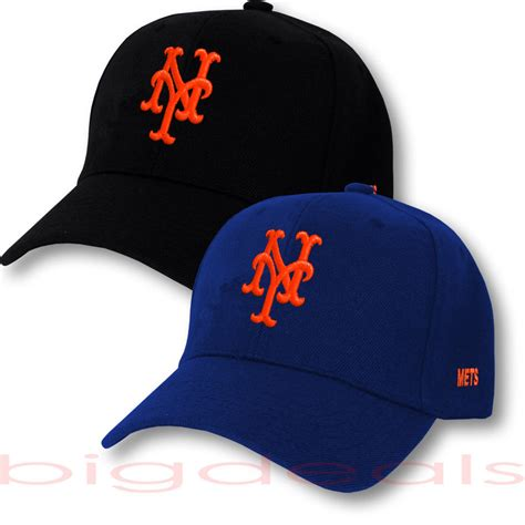 mlb logo on hat new york mets cap mlb ny logo hat embroidered on field