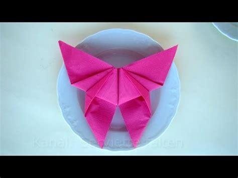 Serviettenform Schmetterling by Servietten Falten Schmetterling Einfache Tischdeko