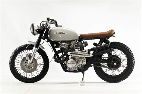 honda cb 450 honda cb450 scrambler by steel bent customs bikebound