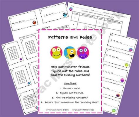 pattern rule definition math 129 best primary math patterns images on pinterest