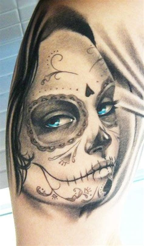 beautiful day of the dead tattoo www pixshark com