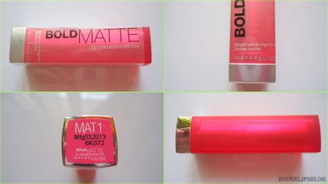 Maybelline Mat 1 by Maybelline Bold Matte Lipstick In The Shade Mat 1 Rougepouts