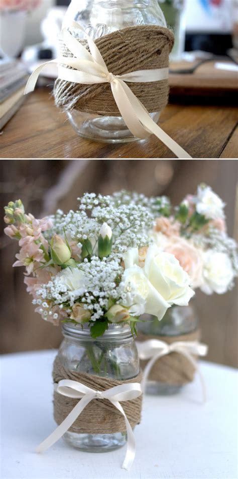 bridal shower table decorations with jars an country bridal shower idea board perpetually daydreaming