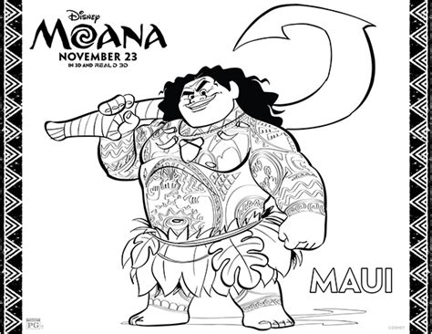 coloring pages disney moana free printables disney moana coloring pages comic con