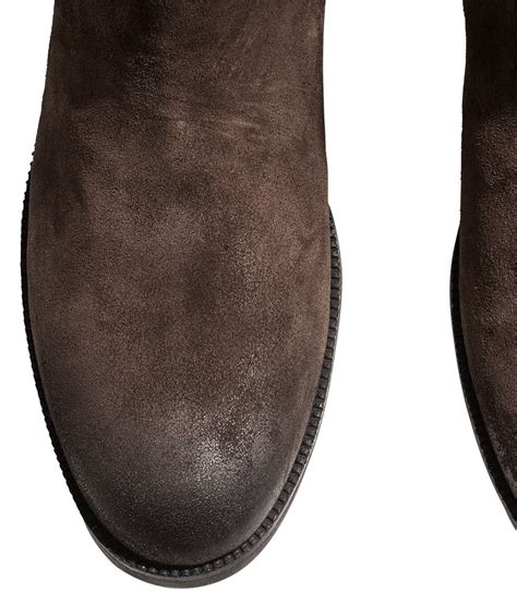 h m suede chelsea boots in brown for lyst