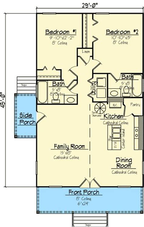 Plan 14119kb Charming Cottage Home Plan Cottage Home Country House Plans Narrow Lot