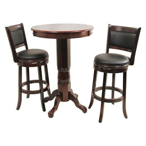 Pub Bar Table Boraam Augusta 3 Pub Table Set Cappuccino Bar Pub Tables At Hayneedle