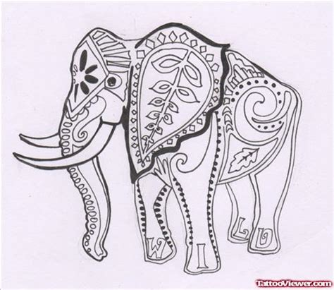 elephant tattoo umbrella elephant with umbrella henna tattoo on hand tattoo