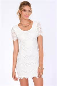 pretty lace dress white dress sheath dress short