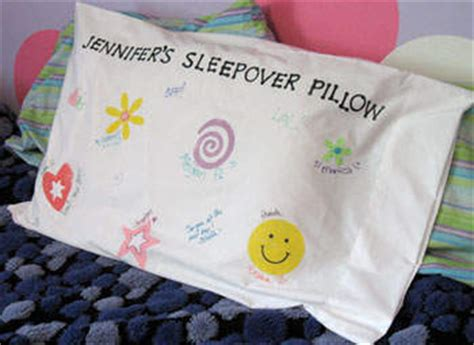 Decorating Pillowcases For by Sleepover Pillowcase Family Crafts