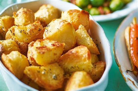 herby roast potatoes recipe christmas side dishes tesco real food