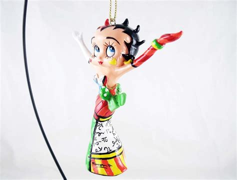 Resin Betty Boop betty boop w arms raised hanging resin ornament betty