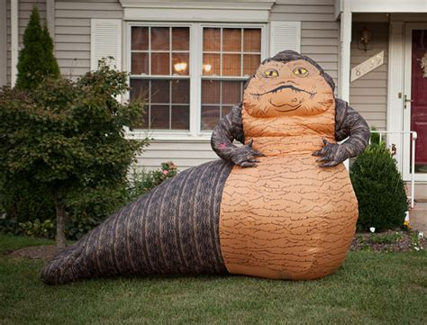 star wars homemade lawn jabba the hutt lawn ornament