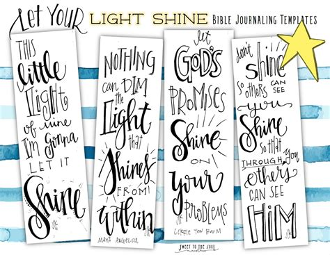 Free Bible Journaling Templates Let Your Light Shine Let Your Light Shine Pinterest Free Free Bible Journaling Templates