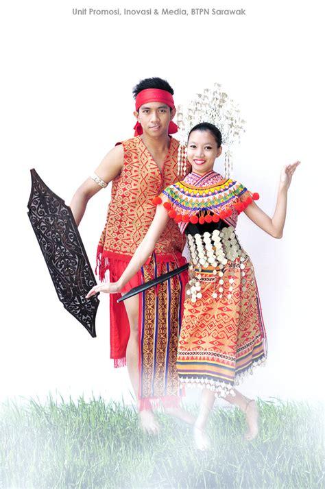 Baju Songket Sarawak Lelaki unit promosi inovasi dan media pakaian tradisional etnik di sarawak