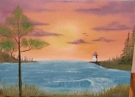 bob ross paintings sunset bob ross bay sunset painting bob ross bay sunset