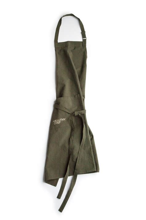 Cook Bake Apron Olive classic style apron olive green the healthy chef