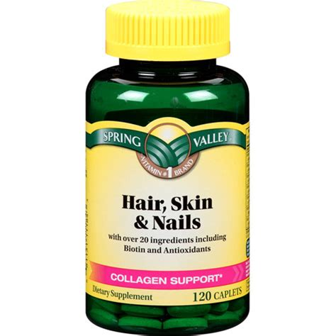 p slin supplement valley s hair skin nails vitamins review