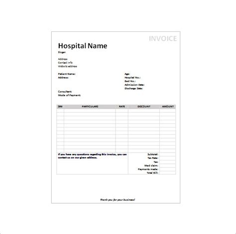 hospital receipt template word 9 receipt templates doc pdf free premium