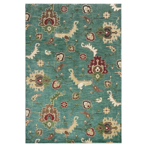 10 x 10 area rug kas rugs modern oushak blue 7 ft 10 in x 10 ft 10 in area rug shi5014710x1010 the home depot