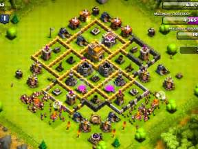 Best defense bases for town hall level 7 clash of clans defense