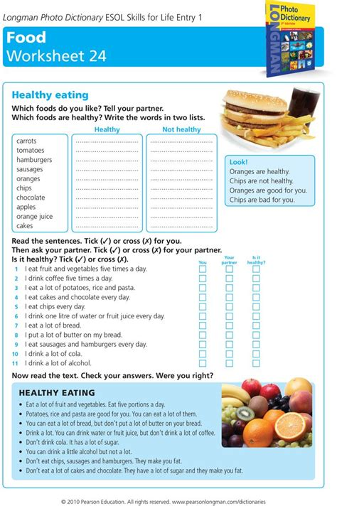 healthy worksheet tep