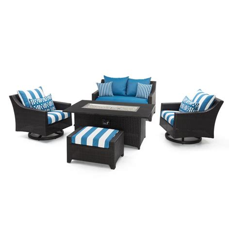 rst brands deco motion 5 wicker patio pit