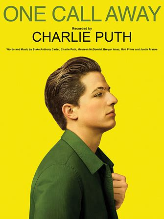 charlie puth ukulele chords one call away sheet music direct