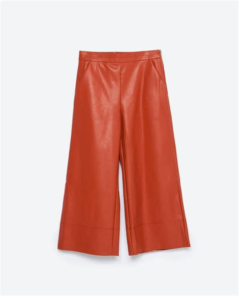 zara synthetic leather trousers with faux leather trousers endource