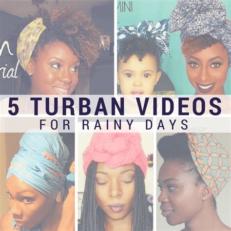 turban tutorial natural hair 5 easy head wraps for rainy spring days black girl with