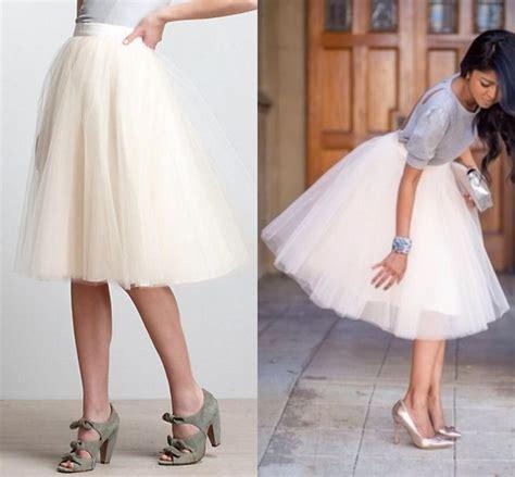2018 white tutu skirts for knee length