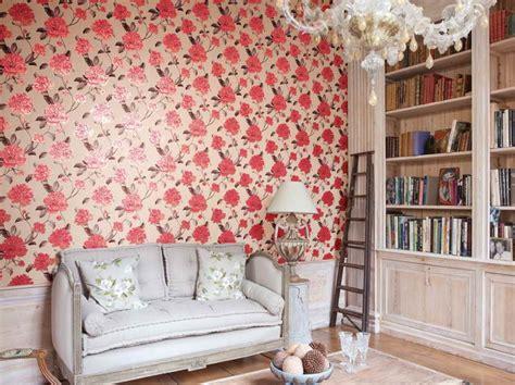 bedroom flower wallpaper indoor bright flower wallpaper decoration for bedroom