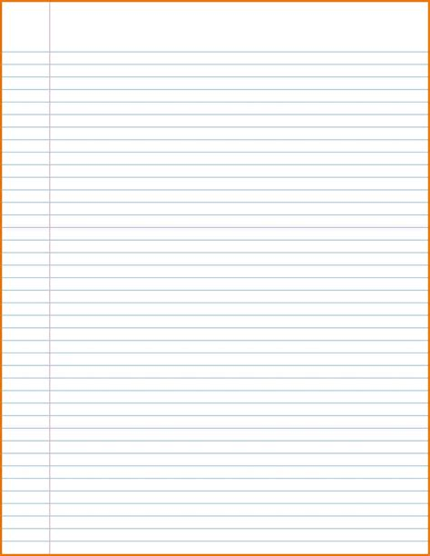 notebook paper template for word microsoft word notebook paper template